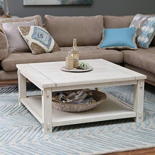 New Craftsman Wood Top Westcott Square Coffee Table Antique White Finish Made With Wood With Mdf And Birch Veneer Classic Shaker Mission Style 40w X 40d X 18h In Online Shopping Rustic