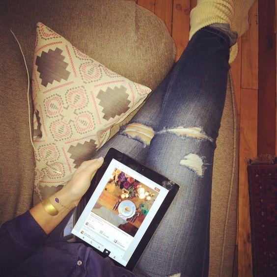 Easy like Sunday morning. #oversizedchair @blissboutiques @cymbidiumfloral #johnrobshaw #knitsocks