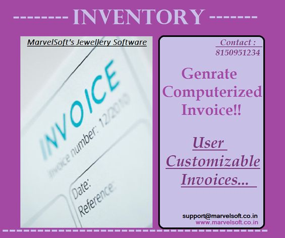Attractive Dashboard Jewellery Software Pinterest   How To Create Your Own  Invoice  Design Your Own Invoice
