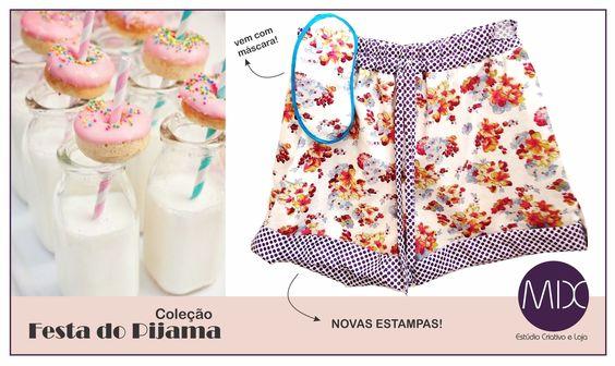 A boa da semana: chegaram novas estampas dos pijaminhas mais charmosos do pedaço.  #themixbazar #estudiocriativo #loja #bazar #design #upcycling #moda #pijamas #cambui