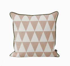 Large Geometry Pillow - Rose