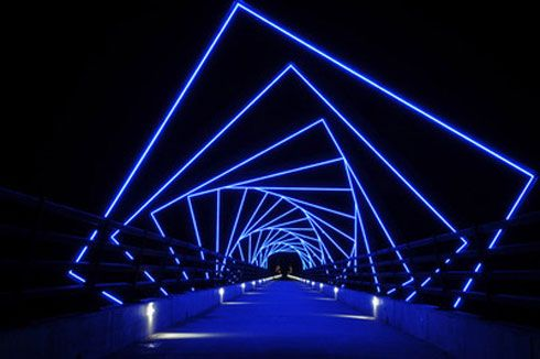 The High Trestle Trail Bridge on the Raccoon River Valley Trail -- a half mile long and 13 stories high and a beautiful ride!