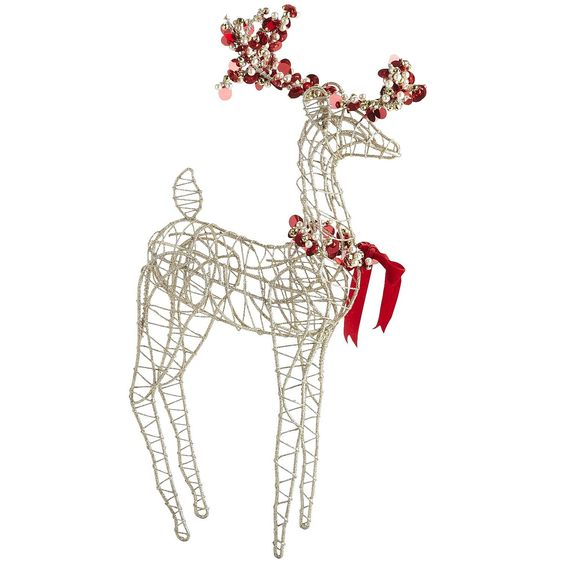 Golden Beaded Reindeer - Pier1 US  $24.95