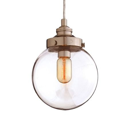 warm light - Nickel Detail Pendant Light.