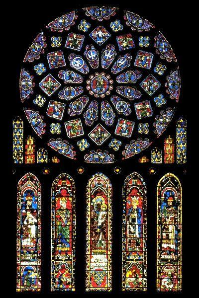 Vitrales Góticos (Catedral de Chartres, Francia )