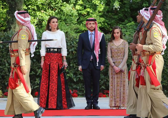 MyRoyals:  Jordan's Independence Day, May 25, 2015-Queen Rania, Crown Prince Hussein and Princess Salma
