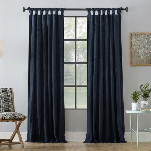 Washed Cotton Twist Tab Curtain Archaeo Tab Curtains Curtains Tab Top Curtains