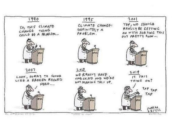 Climate change cartoon, funny!