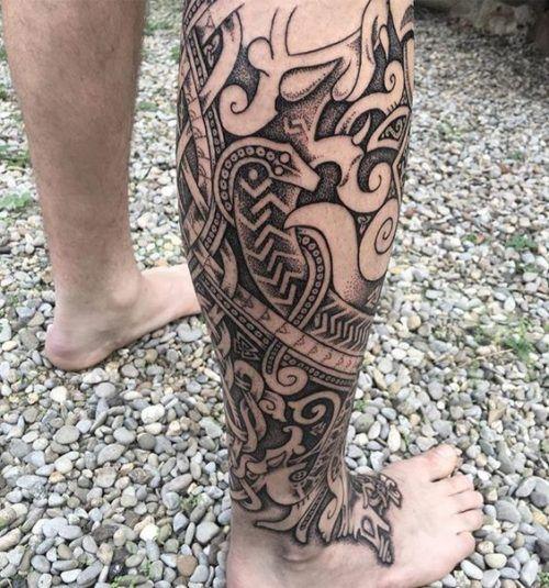 Tatuajes En La Pierna Para Hombres Con Los Mejores Disenos Tatuaje Maori Tatuajes Pierna Tatuajes Celtas