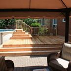 Spring 2012 Platform Deck to Aboveground Pool - contemporary - patio - ottawa - by Harding Carpentry, Inc.