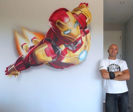 Contact toronto muralist painter airbrush murals corrado for Airbrushed mural