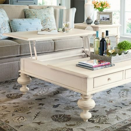 Lift-top cocktail table by Paula Deen