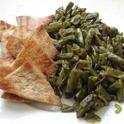 Syrische Stangenbohnen mit Olivenöl (Fasoliyyeh Bi Z-Zayt)