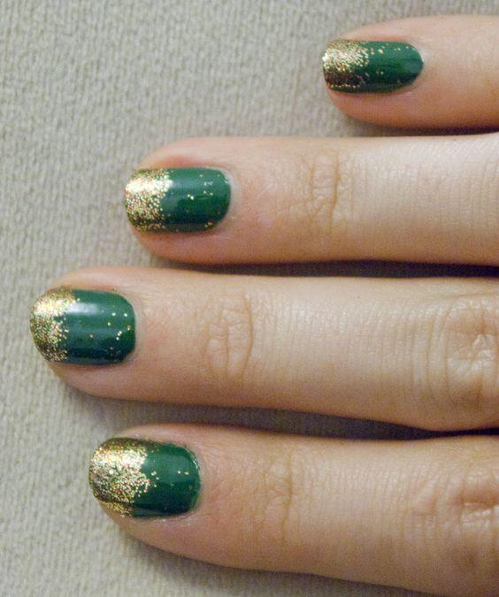 Green & sparkling gold!