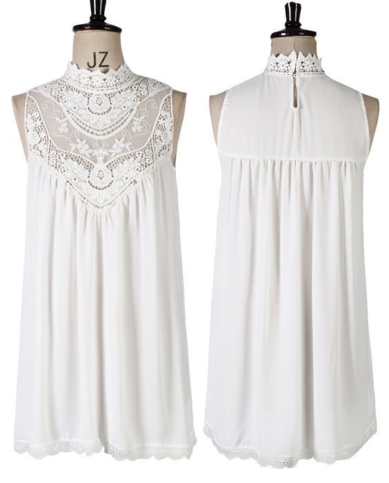 Sexy Women's Croched Lace Casual Loose Long Tops Summer Chiffon Shirt Blouses