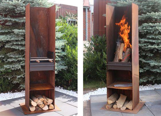 Grotherm Grill und Feuersäule U hoch