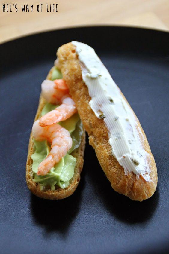 #Food. Eclairs salés à la crème d'avocat et aux crevettes {Battle food 25 : Trompe l'oeil} | Mel's way of life