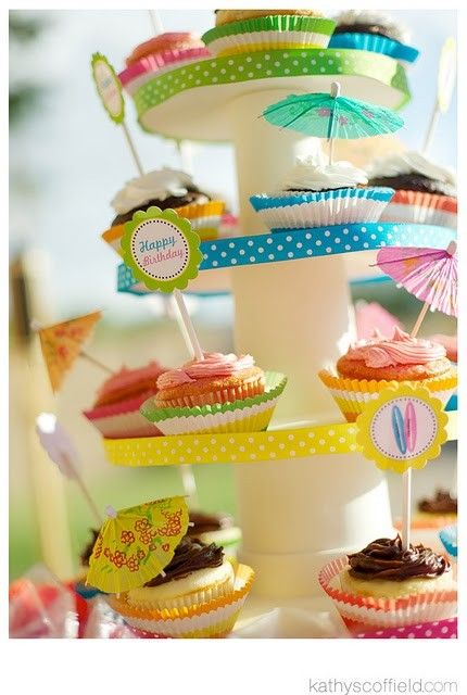 Could just do the cupcakes with the little umbrellas on them for decoration...