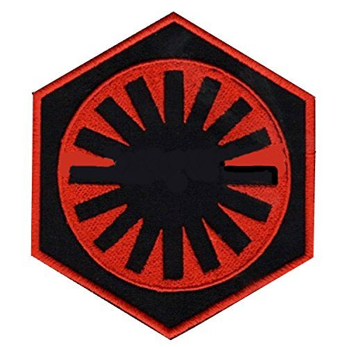 Kylo Ren Patch Embroidered Iron on Badge Empire First Order Jedi Costume Cosplay