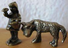 Märchen Metallfigur Rotkäppchen und der Wolf Metall