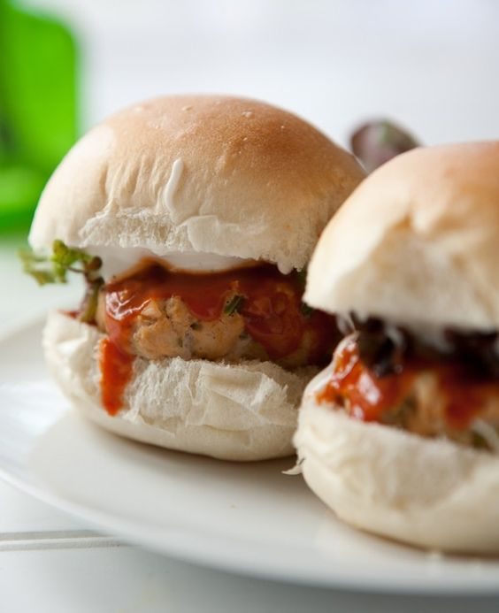 Buffalo Chicken Ranch Sliders  from @Angie McGowan (Eclectic Recipes)