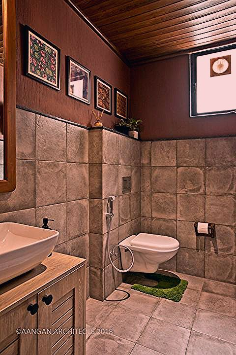 Own House Aangan Architects In 2020 Washroom Design Washroom Decor House Interior