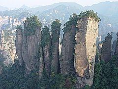 Caverna gigante na China Monte Tianmen