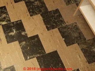 Black And White Asbestos Containing Floor Tiles C Inspectapedia Com Flooring Tile Floor Painted Floors