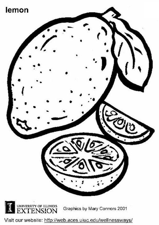 Coloring Page Lemon Coloring Page Template Printing Printable Food Coloring Pages For Kids Lemon In 2020 Lighten Skin Beauty Tips For Skin Natural Skin Lightening