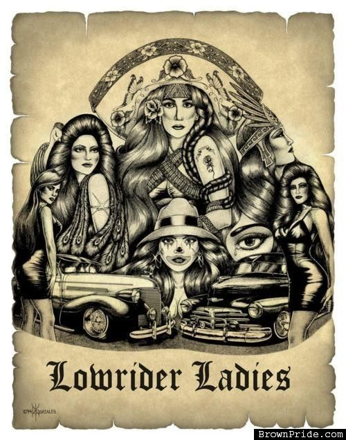 Lowrider ladies art work photo gallery bp prison art pinterest photos - Brown pride lowrider ...