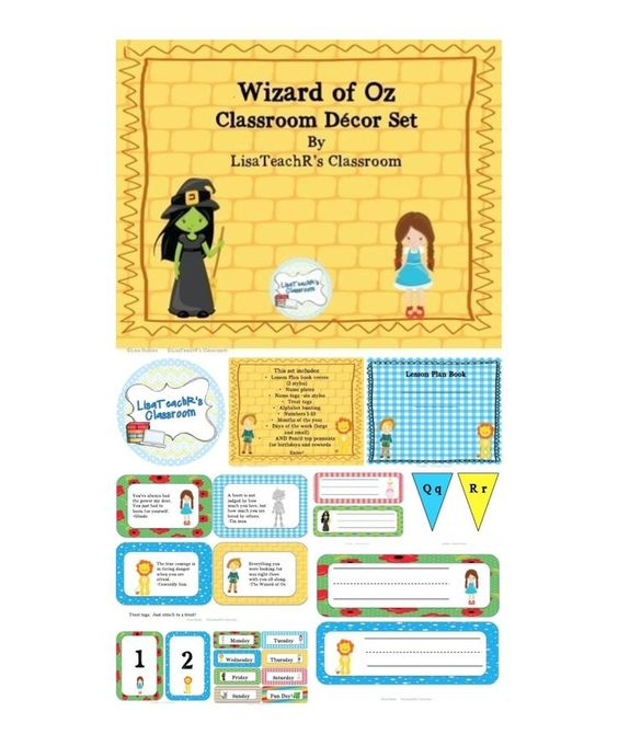 Classroom Decor Sets ~ Wizard of oz classroom decor set kid home and places