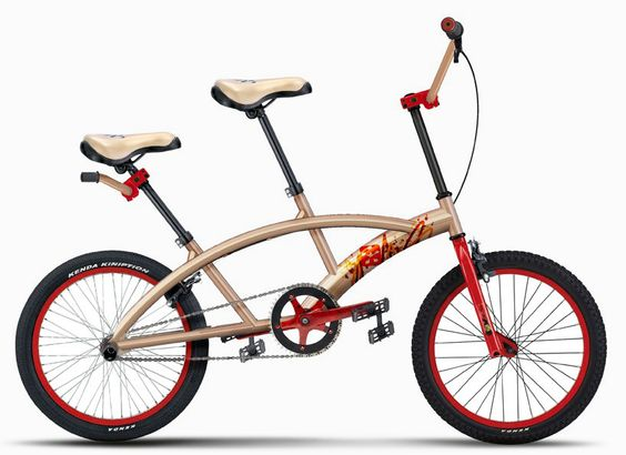 Duetta is a new more compact tandem bike. A new compact tandem bike design from Sentidos called the Duetta has the same size and weight as a normal one-seat bike but offers versatility for two.
