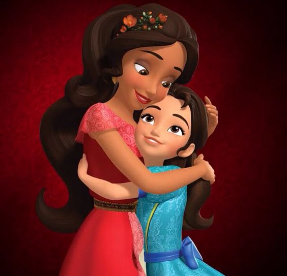 Elena of Avalor and her little sister Isabel. The New serie of Disney Junior. June 2016