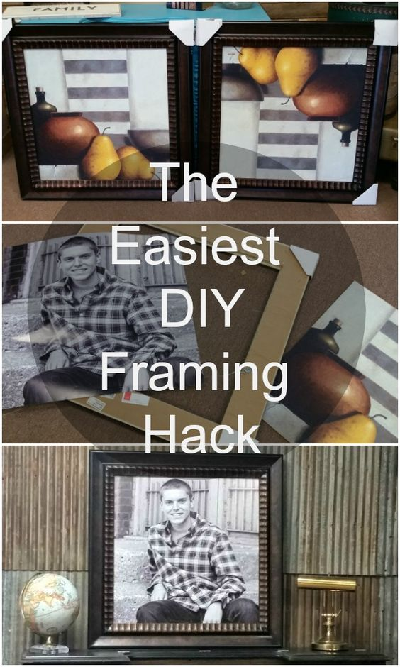 the easiest diy picture framing hack, Hause ideen