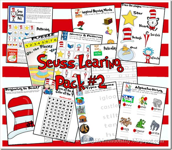 Dr. Seuss {FREE} Preschool Printables. This is pack 2 (there are 3) with 30 pages for kids 2-7: Dr Seuss Preschool, Pack Printables, For Kids, Preschool Printables, Printables Pack, Preschool Idea, Free Printables, Seuss Printables
