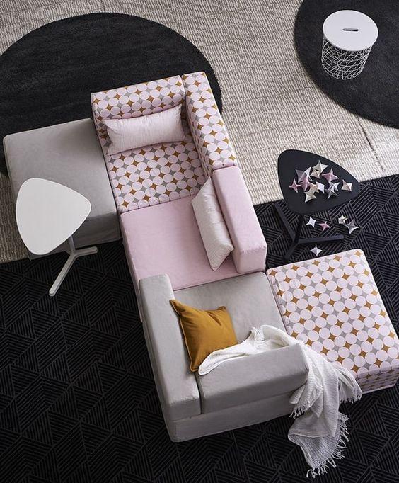 Sillones Ikea. Sillones modulares estilo retro. #sofarosa #sofaikea #sillonesikea #ikea #estiloydeco