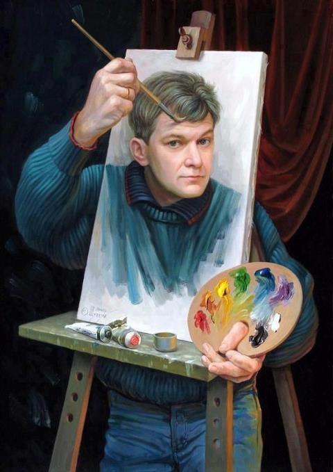 Ukrainian artist Oleg Shuplyak's self portrait