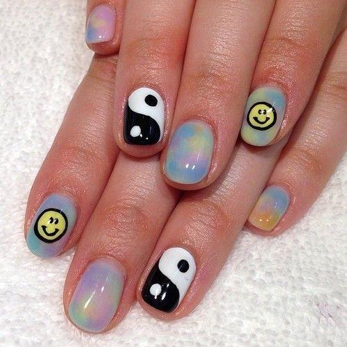Tie-Dye Marble nails for Amanda  (at Hey, Nice Nails)