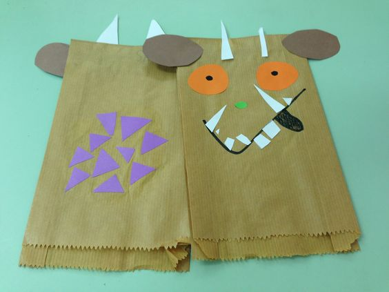 Paper bag puppet ~ The Gruffalo: