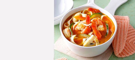 Rezept Asiatische Garnelen-Nudelsuppe