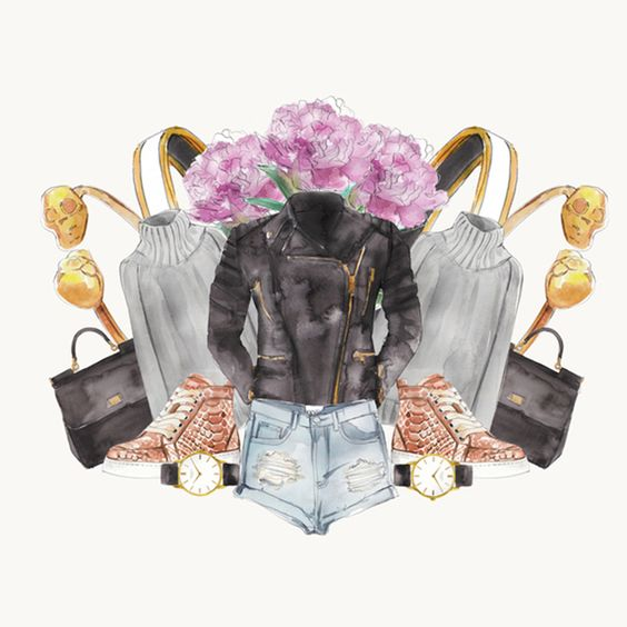 We love illustrator Sally Spratt's series ofwatercolor drawings inspired by all things lust worthy and covetable. It's a clever way to fulfillthat dangerous shoppingvoid - if she can't have them, she draws them!