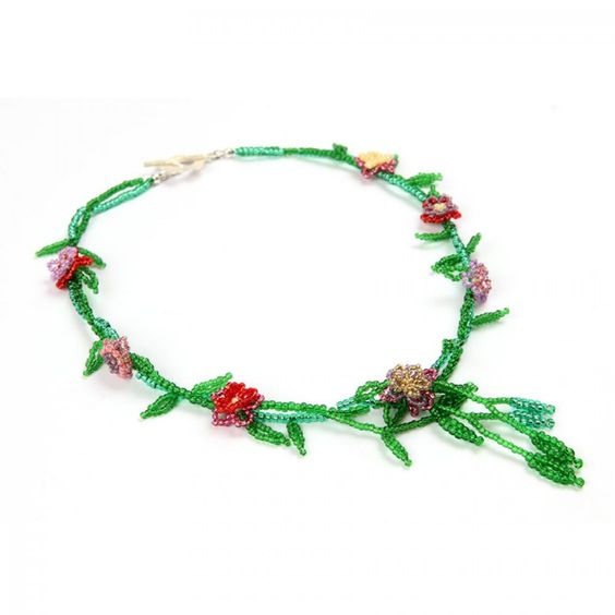 Tutorial on how to make this lovely 'Spring Blossom' necklace.