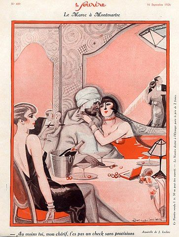 Jacques Leclerc 1926 Cabaret, Elegants High-class Hooker, Roaring Twenties, Arabic