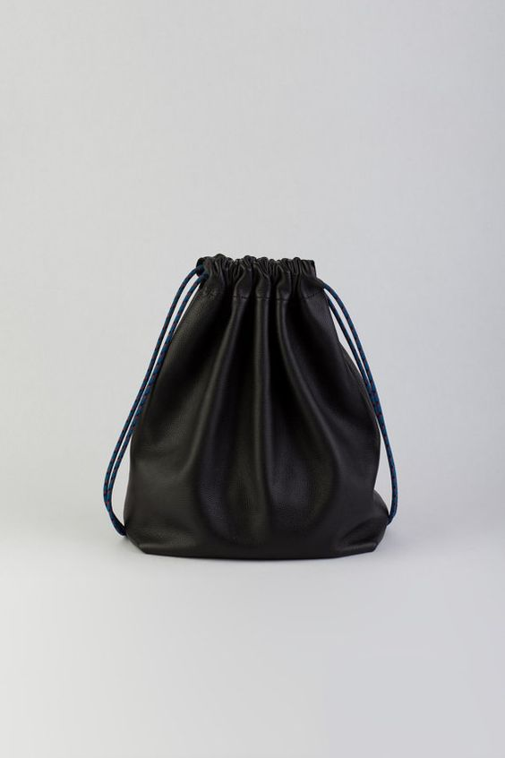 The Stowe - Leather Drawstring Backpack