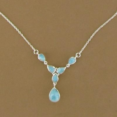 Larimar jewelry is beautiful.  Wish I had a necklace.