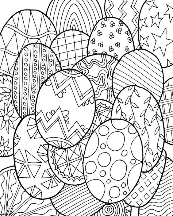 (FREE) Easter Egg Adult Coloring Pages to get in the holiday spirit so let's get coloring: