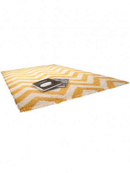 tapis graphic zick zack jaune 60002377 by benuta color jaune design chevron - Tapis Color Fly