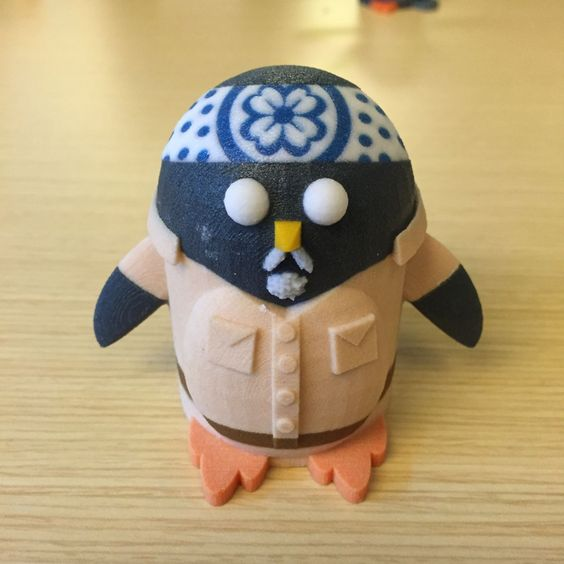 Peter the Penguin as Mr. Miyagi - 3D Printed model from Tinkercad