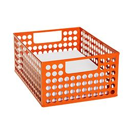 6 of these stacked in the middle of each table? The Container Store > Circuit Stackable Paper Bin