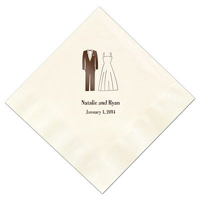 These napkins are SO cute for a #bridalshower! #davidsbridal #weddings